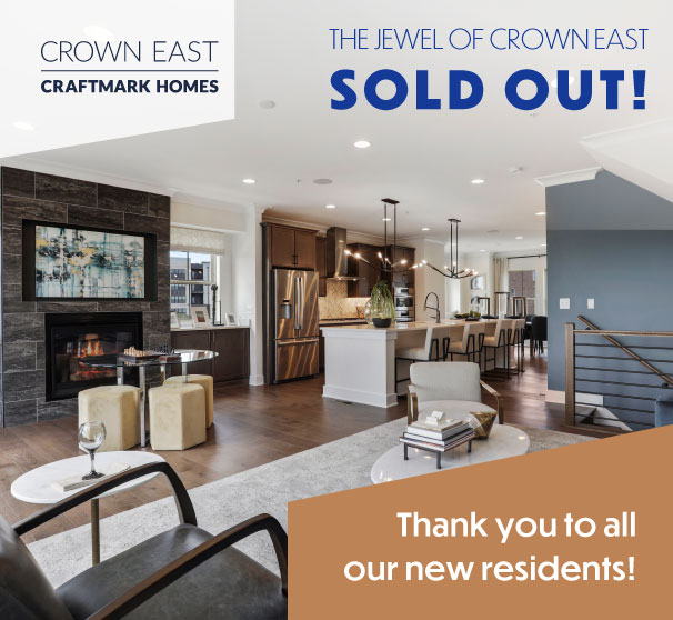 Elevator Townhomes in Gaithersburg, MD, Crown by Craftmark Homes