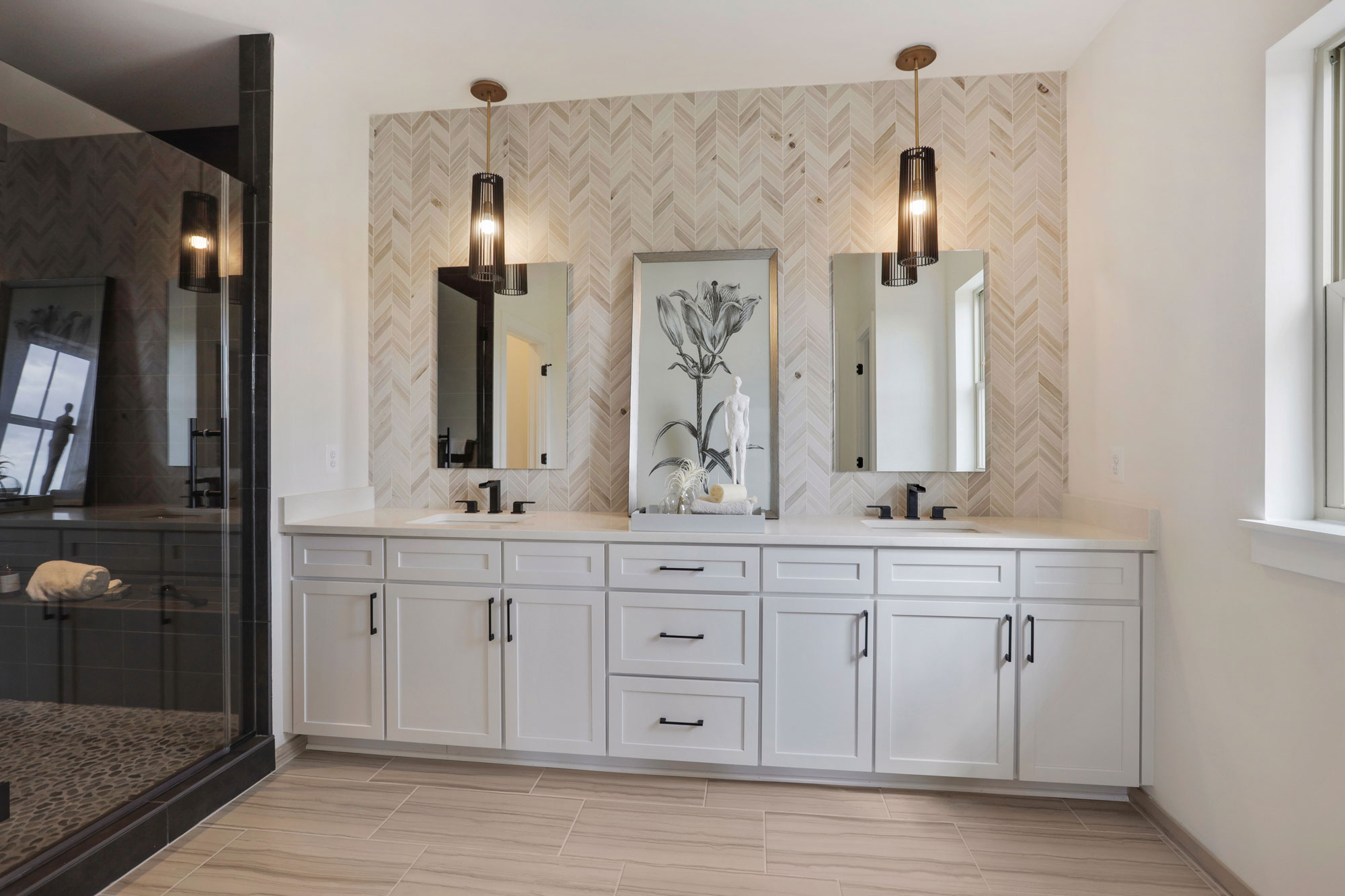 Bathroom, Elevator Townhomes in Gaithersburg, MD, Crown by Craftmark Homes