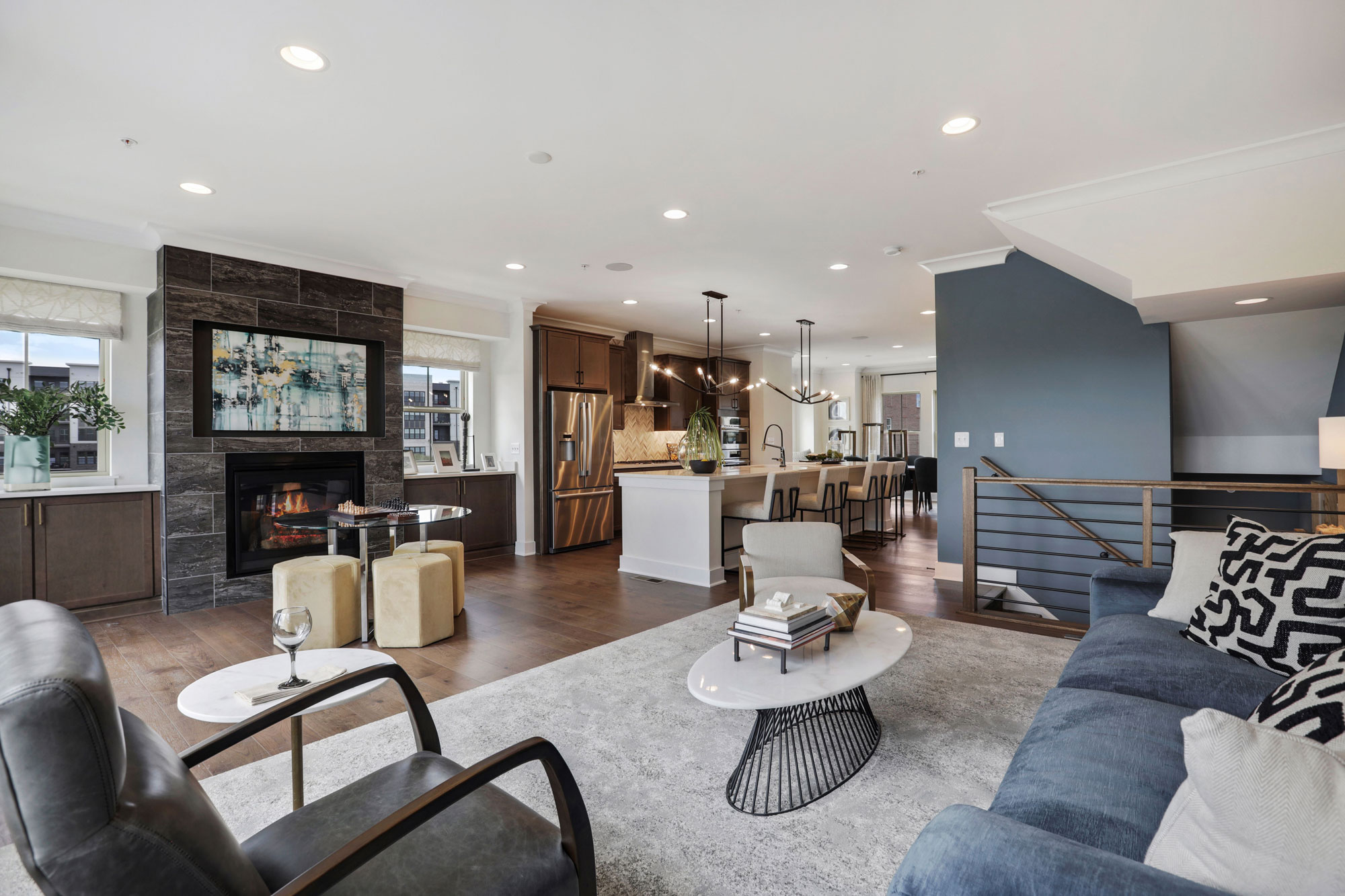 Living Space, Elevator Townhomes in Gaithersburg, MD, Crown by Craftmark Homes