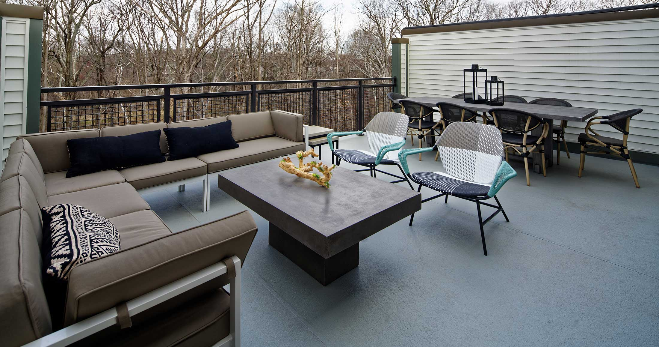 Roof Terrace, Townhomes in Chantilly VA