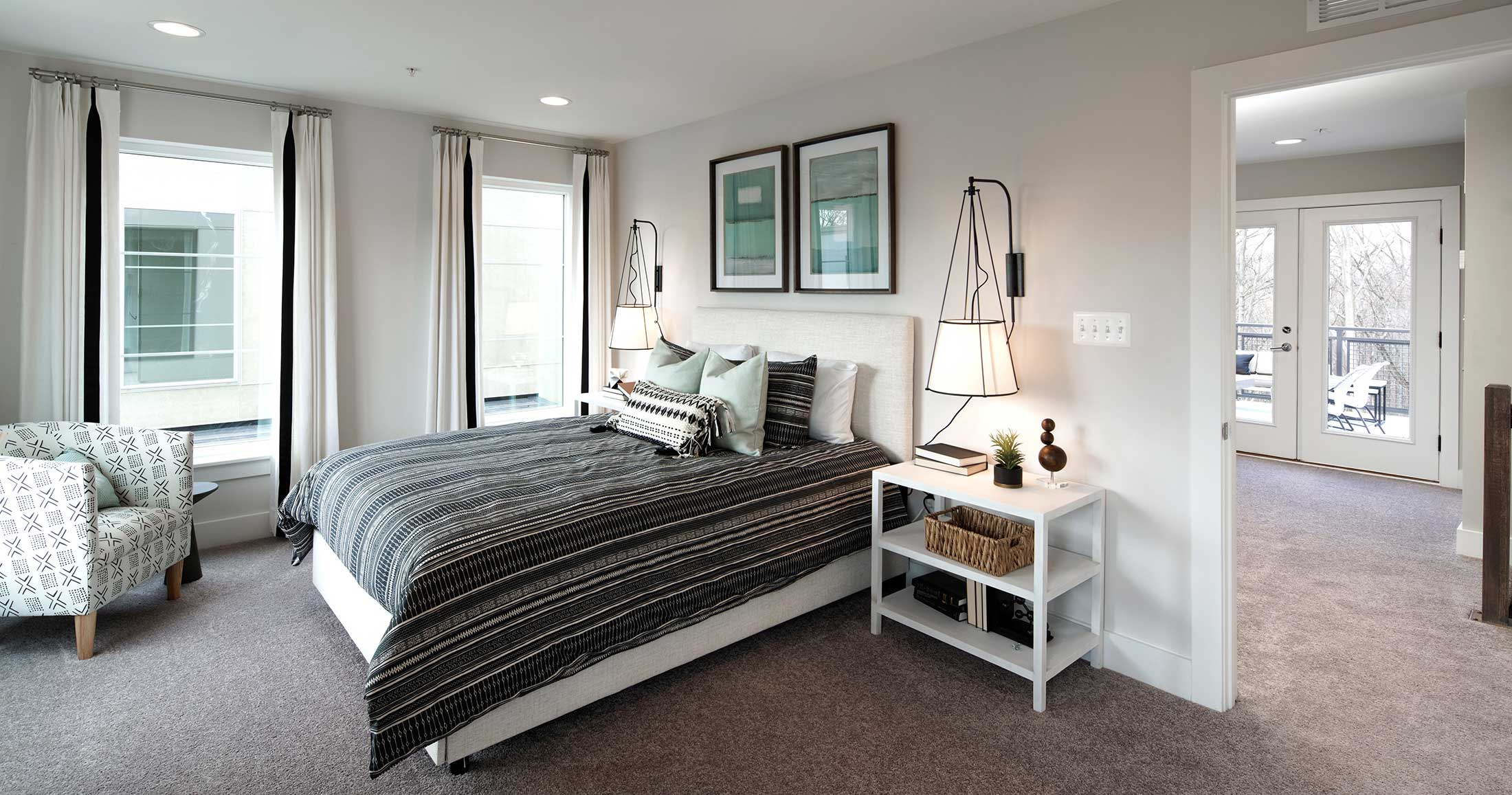 Bedroom, Townhomes in Chantilly VA