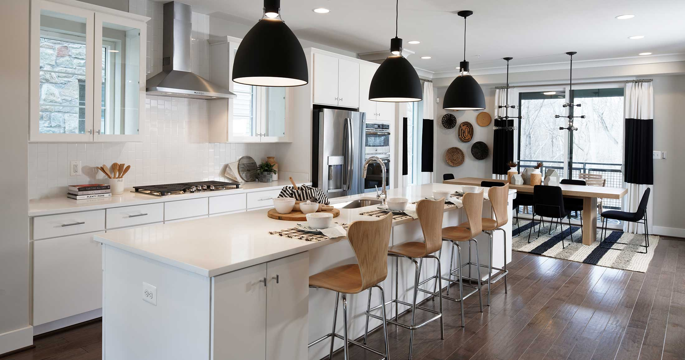 Kitchen & Dining Space, Townhomes in Chantilly VA