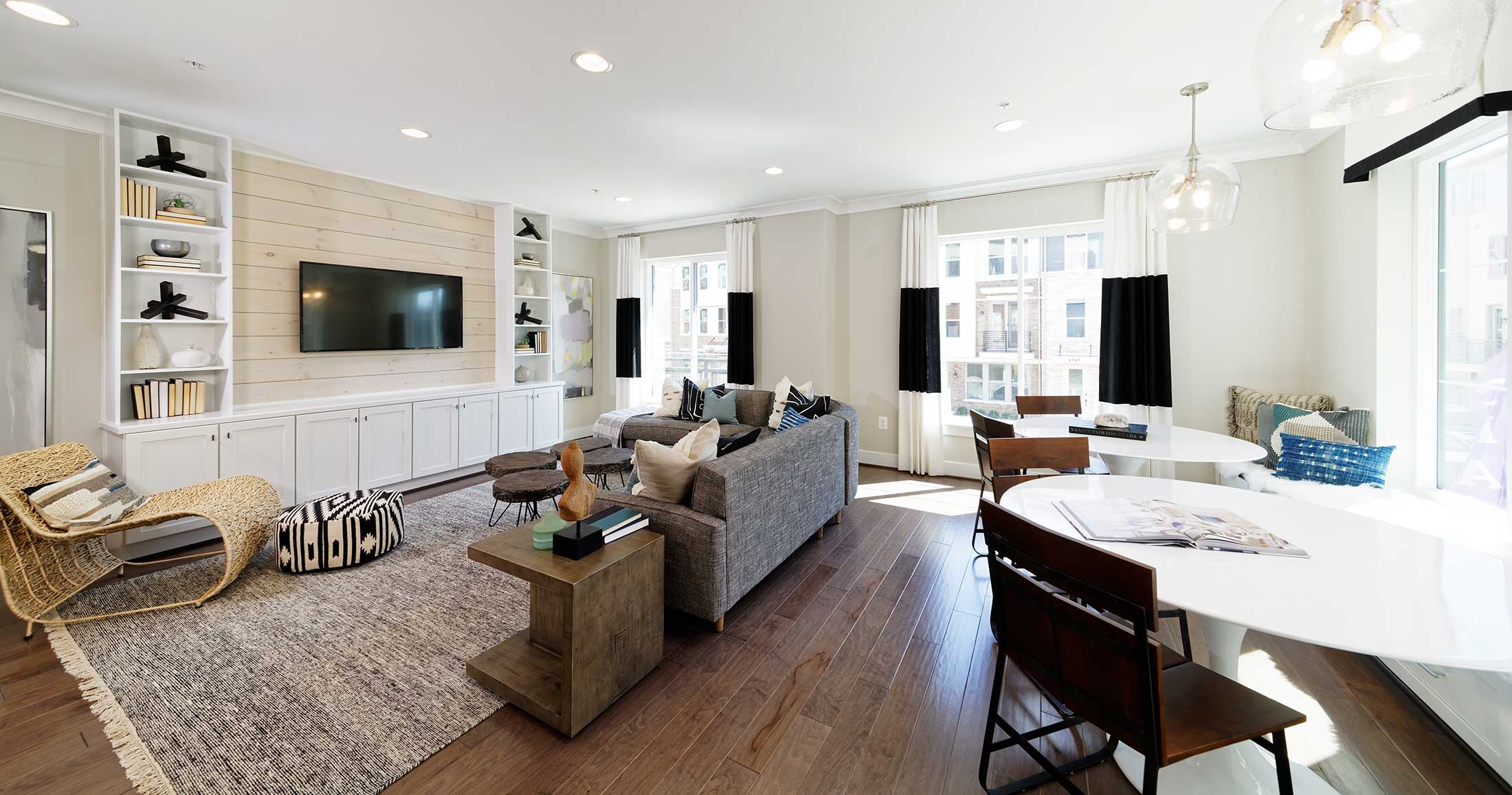 Living Room, Townhomes in Chantilly VA
