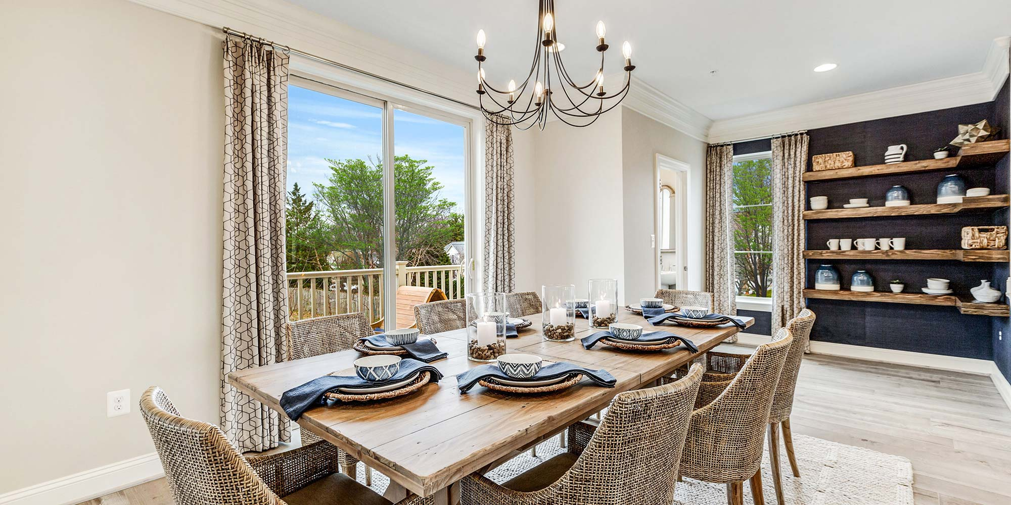 Dining Room, Urban Townhomes in Alexandria VA
