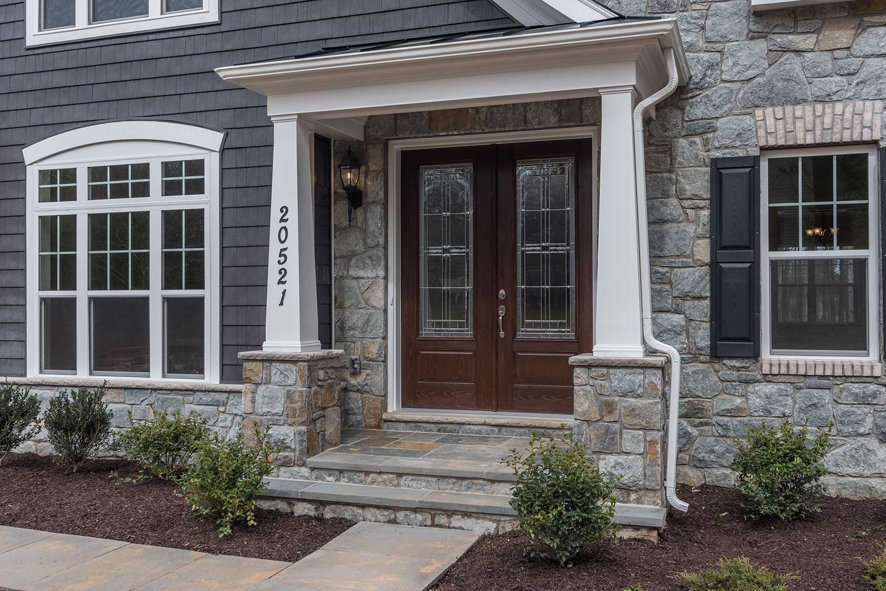 Exterior, Finished Custom Home, Chevy Chase, Gaithersburg, Craftmark Homes