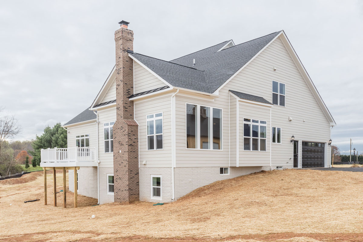 Exterior, Finished Custom Home, Edgemoor, Paeonian Springs, Craftmark Homes