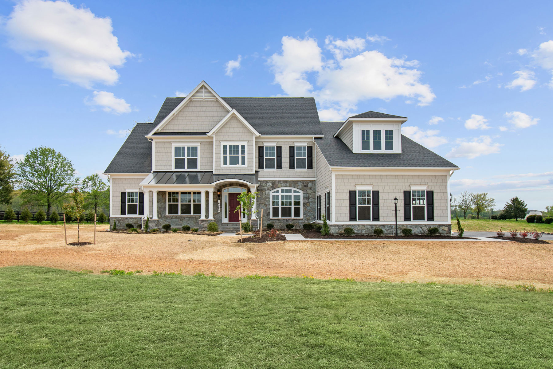 Exterior, Finished Custom Home, Edgemoor, Clarksburg, Craftmark Homes