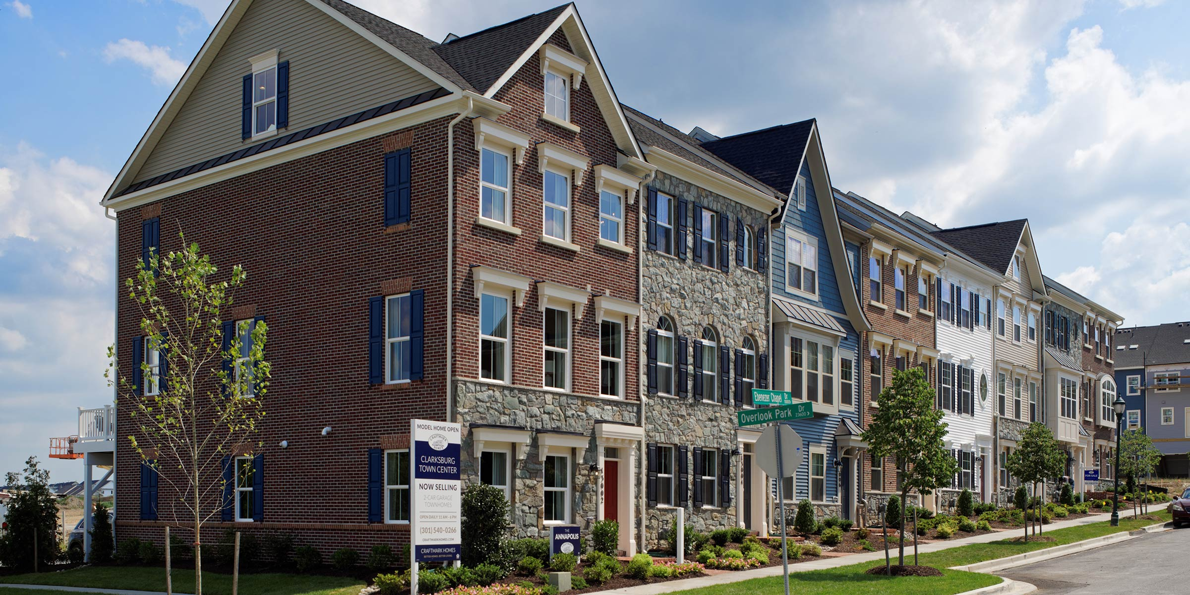 The Annapolis Floor Plan, Up to 4 Levels, 2-Car Garage, 3-4 BR, Townhomes in Clarksburg MD, Craftmark Homes