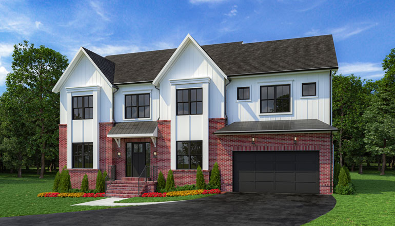 The Oakton at Burnt Pine Estates Floor Plan, Custom Home Available in Fairfax County, VA