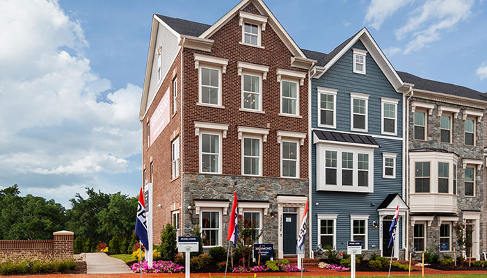 The Richmond Floor Plan, Townhomes Available at Clarksburg Town Center, MD