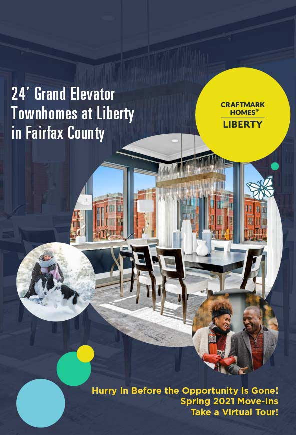 Elevator Townhomes in Fairfax County, VA, Liberty by Craftmark Homes