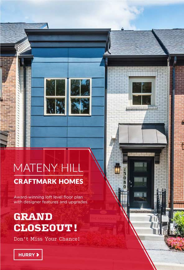 Luxury Townhomes in Germantown, MD, Mateny Hill by Craftmark Homes
